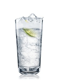 absolut citron and tonic cocktail